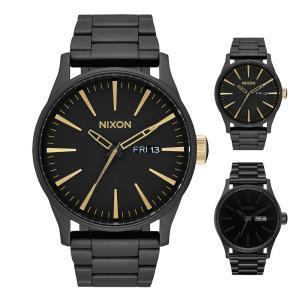 ニクソン NIXON 腕時計 THE SENTRY 38 SS セントリー 38 ブラック×ホワイト NA450005-00 メンズ レディース ウォッチ【取寄せ商品】|stay