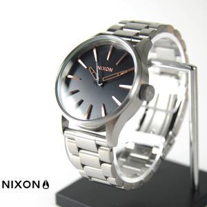 ニクソン NIXON 腕時計 セントリー 38 SS グレー ローズ ゴールド NA4502064-00 ウォッチブランド|stay