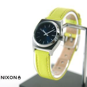 ニクソン NIXON 腕時計 スモールタイムテラー レザー ネイビー ネオンイエロー NA509-2080 ウォッチブランド|stay
