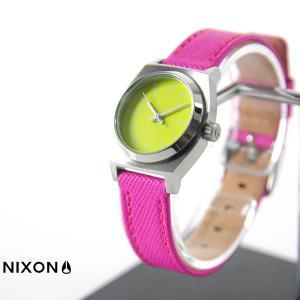 ニクソン NIXON 腕時計 スモールタイムテラー レザー ネオンイエロー ホットピンク NA509-2081 ウォッチブランド|stay