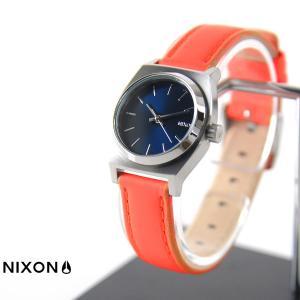 ニクソン NIXON 腕時計 スモールタイムテラー レザー ネイビー ブライトコーラル NA509-2077 ウォッチブランド|stay
