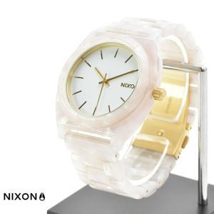 ニクソン NIXON 腕時計 タイムテラー アセテート ホワイト グラニート×ゴールド NA3272031-00 メンズ レディース ウォッチ【取寄せ商品】|stay