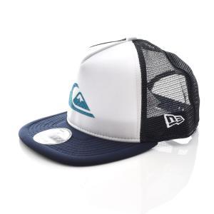 クイックシルバー QUIKSILVER ニューエラ NEW ERA メッシュキャップ 帽子 ポディウム トラッカー プリント キャップ メンズ コラボ  ロゴ ブランド AQYHA04587|stay