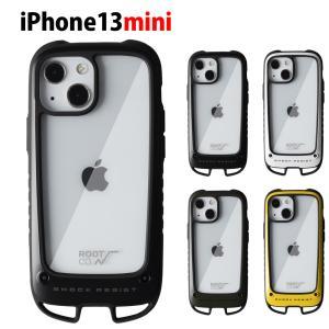 【iPhone 13 mini 5.4inch 専用ケース】ルート コー ROOT CO iPhoneケース グラビティ ショックレジストケース + ホールド アイフォンケース GSH-4381|stay