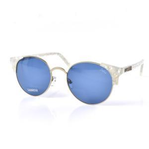 セイバー サングラス SABRE シーナ レディース メンズ uvカット 紫外線 サーモント セル パールホワイト マットゴールドメタル ブルー ブランド SV207-1597J|stay