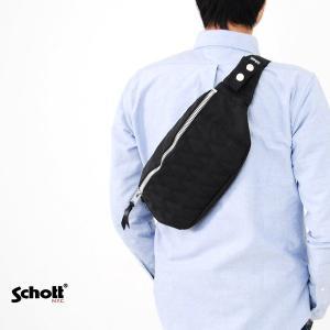 【取り寄せ商品】ショット Schott バッグ ナイロン パデッド ボディバッグ 3169007|stay