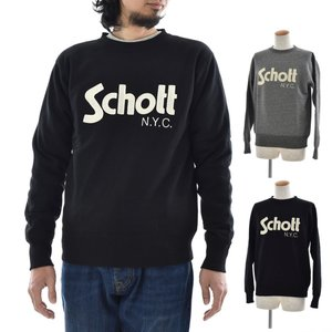 ショット Schott トレーナー メンズ 無地 スウェット クルーネック ベーシック ロゴ 3173062 スェット スエット|stay