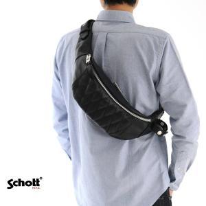 【取り寄せ商品 ブランド】ショット Schott バッグ パデッド レザー ボディバッグ 3109023|stay
