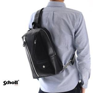 【取り寄せ商品】ショット Schott バッグ ライダース レザー ワンショルダーバッグ 3169016|stay