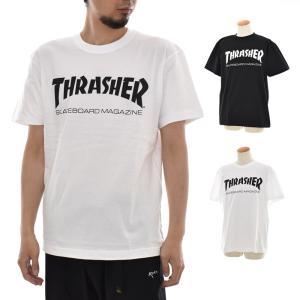 THRASHER スラッシャー Tシャツ ロゴ マグロゴ MAGロゴ 半袖Tシャツ TEE ティ−シャツ メンズ レディース SK8 スケートボード 定番 黒 白 TH8101|stay