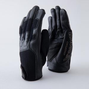 UNCROWD アンクラウド グローブ メッシュグローブ バイクグローブ バイク用 手袋 メンズ 山羊革 レザー MESH GLOVE UC-111-021|stay