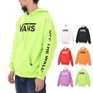 VANS バンズ ヴァンズ パーカー メンズ ロゴ フライングV プルオーバー フーディー スウェット ブランド 白 黒 ブラック 赤 オレンジ 紫 黄色 VA18FW-MC07|stay