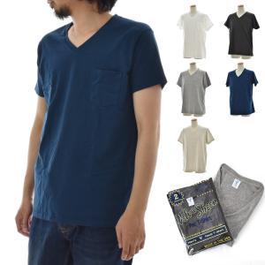Velva Sheen ベルバシーン 2パック ポケット付きVネック Tシャツ 2枚組 160922|stay