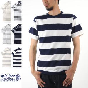 べルバシーン Tシャツ Velva Sheen ボーダー クルーネック 半袖Tシャツ 161550U 161550W[M便 1/1]|stay