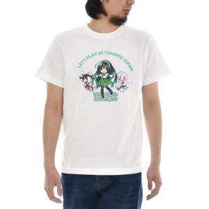 東北ずん子 三姉妹 Tシャツ 半袖Tシャツ メンズ レディース 大きいサイズ 東北 ずん子 イタコ きりたん 宮城 青森 秋田 石巻 可愛い 女子 S M L XL 3L 4L TZ-020|stay