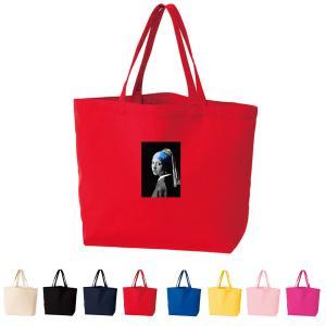【スモールアートトートバッグ】フェルメール トート ML 真珠の耳飾りの少女 モノクロブルー エコバッグ お買い物バッグ メンズ レディース 絵画 名画 ブランド stayblue
