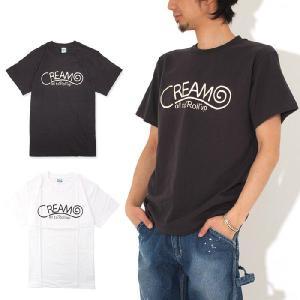 (復興デパートメント) CREAM ROLL クリームロール LOGO Tシャツ 半袖Tシャツ|stayblue