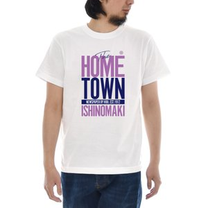 記念 限定 Tシャツ 石巻日日新聞 HOME TOWN ロゴ 半袖Tシャツ 話題 メンズ レディース...