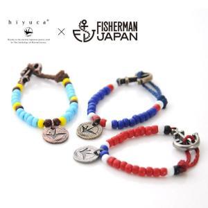 Hiyuca×Fisherman japan ヒユカ×フィッシャーマンジャパン/アンカービーズブレスレット|stayblue