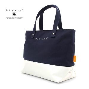 Hiyuca(ヒユカ) デイリートート 帆布×ターポリン トートバッグ ネイビー|stayblue