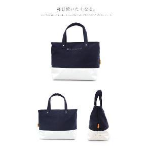 Hiyuca(ヒユカ) デイリートート 帆布×ターポリン トートバッグ ネイビー|stayblue|02