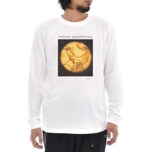フォトTシャツ Tシャツ 海苔の赤ちゃん 長袖Tシャツ Keisuke Hirai Collection ケイスケ ヒライ 写真 フォト 海苔 生命 メンズ レディース 平井慶祐 stayblue