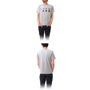 Tシャツ ライフ イズ アート Primary Logo Tシャツ Mix Gray メンズ|stayblue|02
