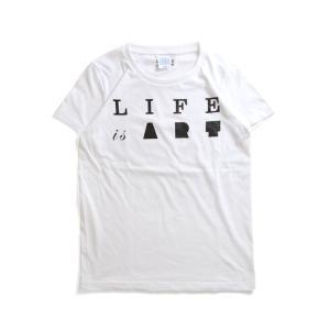 (復興デパートメント) Tシャツ ライフ イズ アート Primary Logo Tシャツ White レディース|stayblue
