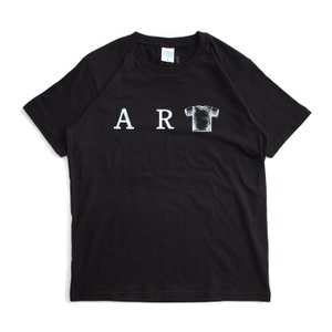 (復興デパートメント) Tシャツ ライフ イズ アート ART Black メンズ|stayblue