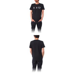 (復興デパートメント) Tシャツ ライフ イズ アート ART Black メンズ|stayblue|02