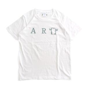 (復興デパートメント) Tシャツ ライフ イズ アート ART White メンズ|stayblue