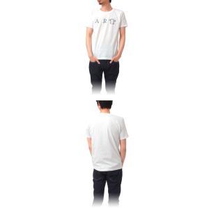 (復興デパートメント) Tシャツ ライフ イズ アート ART White メンズ|stayblue|02