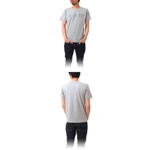 Tシャツ ライフ イズ アート ART Mix Gray メンズ|stayblue|02