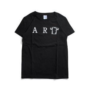(復興デパートメント) Tシャツ ライフ イズ アート ART Black レディース|stayblue