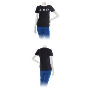 (復興デパートメント) Tシャツ ライフ イズ アート ART Black レディース|stayblue|02