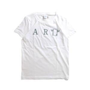 Tシャツ ライフ イズ アート ART White レディース|stayblue