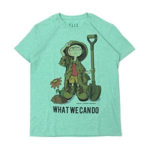 Tシャツ ライフ イズ アート Boy Melange Green メンズ stayblue