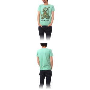 Tシャツ ライフ イズ アート Boy Melange Green メンズ stayblue 02