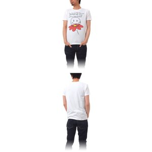 Tシャツ ライフ イズ アート Smile White メンズ|stayblue|02