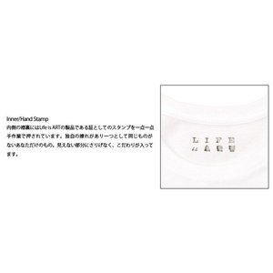 Tシャツ ライフ イズ アート Smile White メンズ|stayblue|03