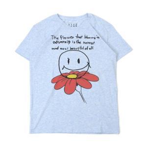 Tシャツ ライフ イズ アート Smile Melange Blue メンズ|stayblue