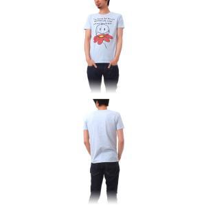 Tシャツ ライフ イズ アート Smile Melange Blue メンズ|stayblue|02