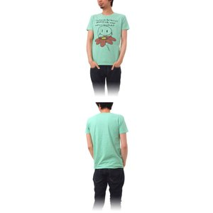 Tシャツ ライフ イズ アート Smile Melange Green メンズ|stayblue|02