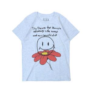Tシャツ ライフ イズ アート Smile Melange Blue レディース|stayblue