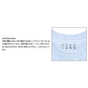Tシャツ ライフ イズ アート Smile Melange Blue レディース|stayblue|03
