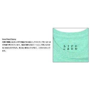 Tシャツ ライフ イズ アート Smile Melange Green レディース|stayblue|03