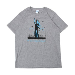 (復興デパートメント) Tシャツ ライフ イズ アート Statue of Liberty Mix Gray メンズ|stayblue