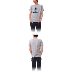 (復興デパートメント) Tシャツ ライフ イズ アート Statue of Liberty Mix Gray メンズ|stayblue|02
