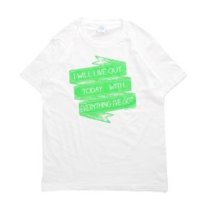 Tシャツ ライフ イズ アート × CREAM GRAPHICS Tシャツ I will White メンズ|stayblue