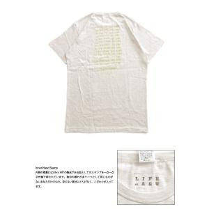 Tシャツ ライフ イズ アート × Chos Tシャツ NOT JUST A BEAUTIFUL Oatmeal メンズ|stayblue|03
